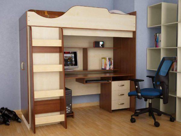 Кровать со шкафом и столом