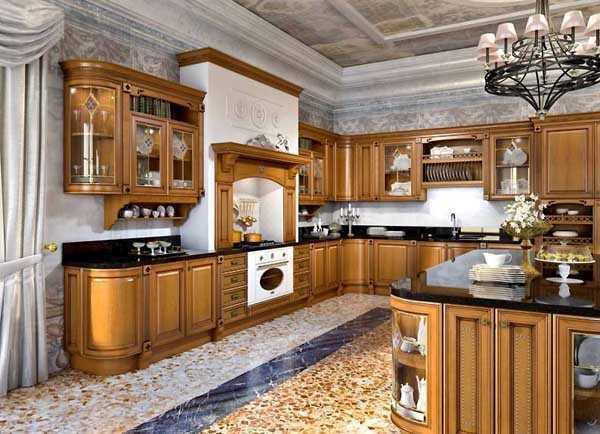 Кухни из массива дерева