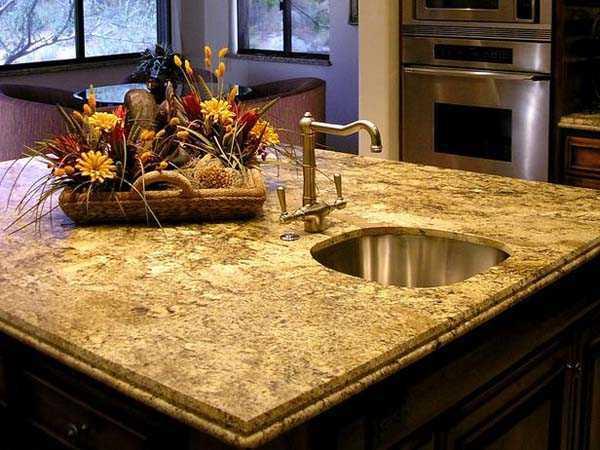 Очистка кухонной столешницы из гранита