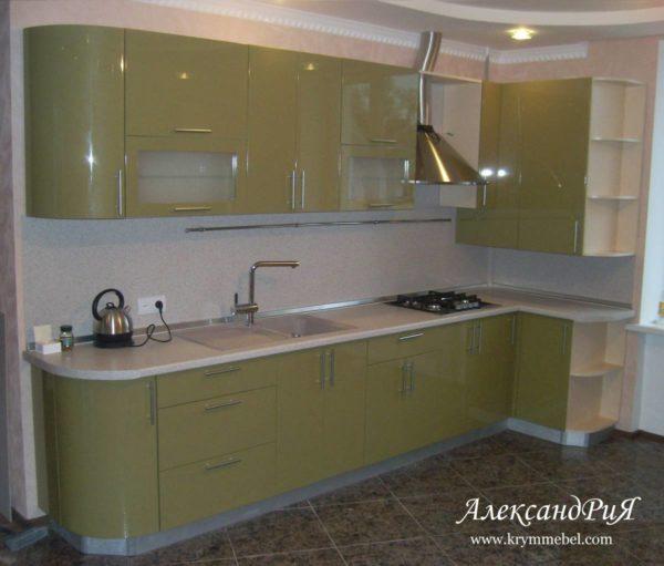 Кухня МДФ крашенный KM131. Кухни на заказ в Симферополе