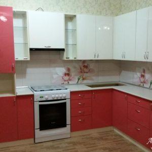 Кухня МДФ крашенный KM133. Кухни на заказ в Симферополе