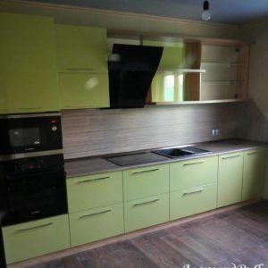 Кухня МДФ крашенный KM80. Кухни на заказ в Симферополе