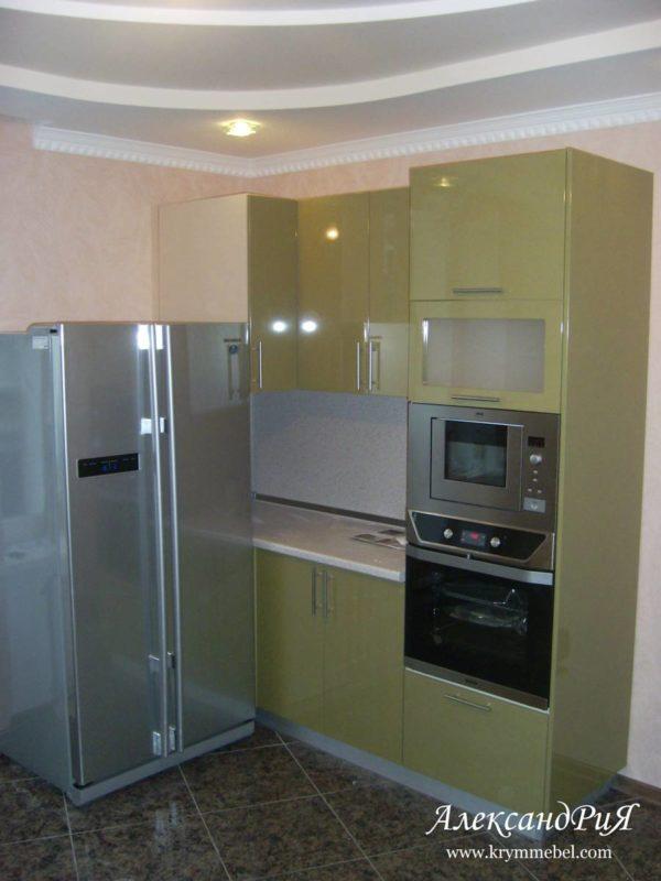Кухня МДФ крашенный KM86. Кухни на заказ в Симферополе