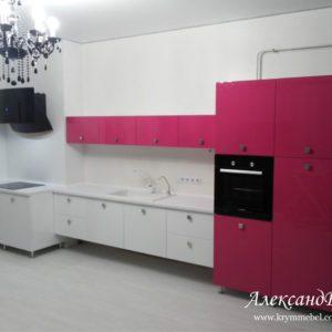 Кухня МДФ крашенный KM91. Кухни на заказ в Симферополе