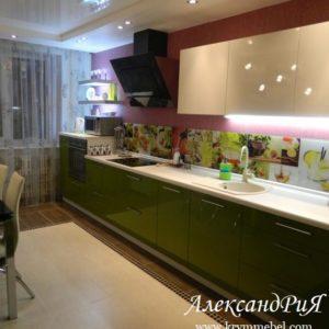 Кухня МДФ крашенный KM95. Кухни на заказ в Симферополе