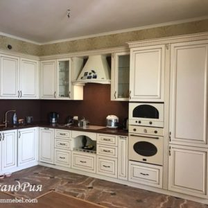 Кухня МДФ патина PA134. Кухни на заказ Симферополь