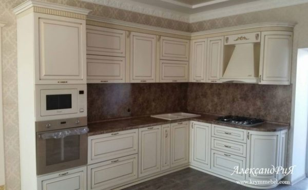 Кухня МДФ патина PA135. Кухни на заказ Симферополь