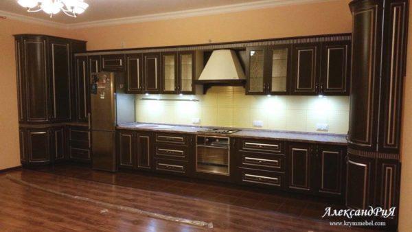 Кухня МДФ патина PA139. Кухни на заказ Симферополь