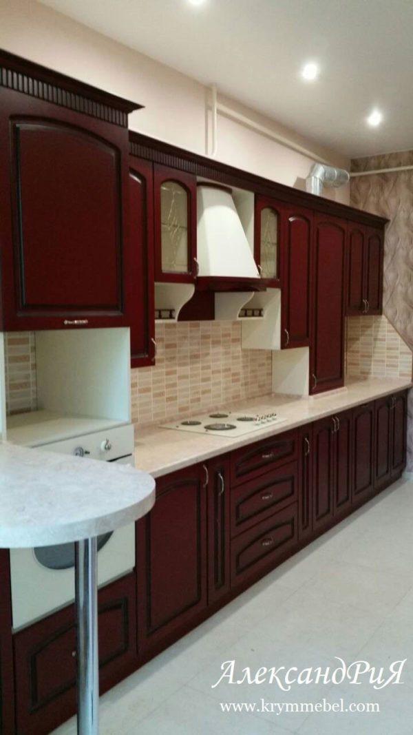 Кухня МДФ патина PA140. Кухни на заказ Симферополь
