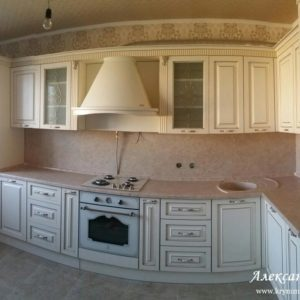 Кухня МДФ патина PA141. Кухни на заказ Симферополь
