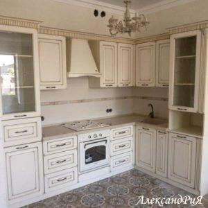 Кухня МДФ патина PA143. Кухни на заказ Симферополь