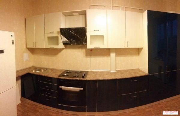 Кухня МДФ пластик PC117. Кухни на заказ в Симферополе