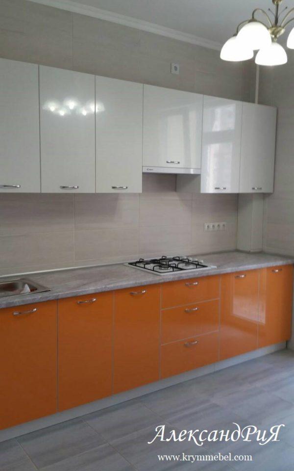 Кухня МДФ пластик PC153. Кухни на заказ в Симферополе