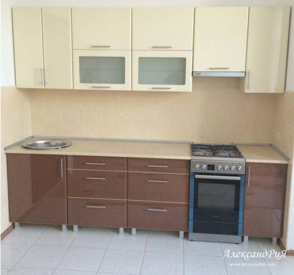 Кухня МДФ пластик PC168. Кухни на заказ в Симферополе