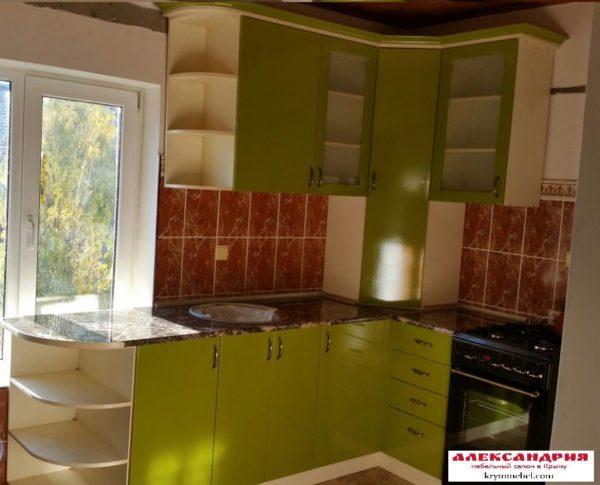 Кухня МДФ пленочный PL108. Кухня на заказ в Симферополе