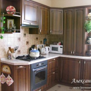 Кухня МДФ пленочный PL150. Кухня на заказ в Симферополе