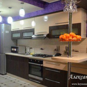 Кухня МДФ пленочный PL151. Кухня на заказ в Симферополе