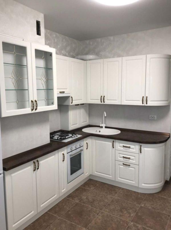 Кухня МДФ крашенный KM 140. Кухни на заказ в Симферополе с ценами и фото