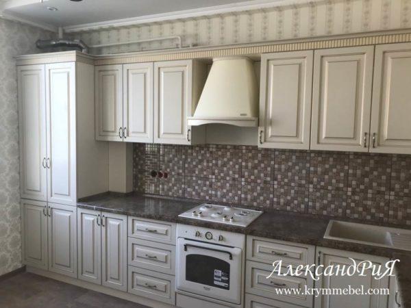 Кухня МДФ патина PA 144. Кухни на заказ Симферополь. Мебель на заказ в Крыму от производителя корпусной мебели