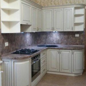 Кухня МДФ патина PA 145. Кухни на заказ Симферополь
