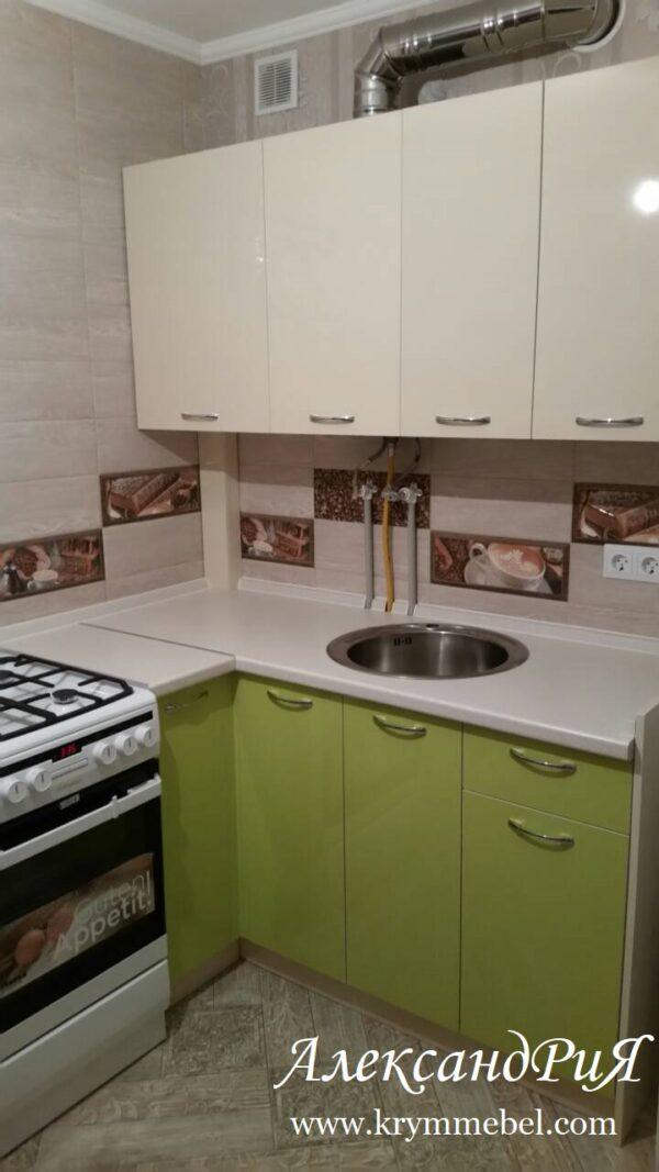 Кухня МДФ пластик PC 176 Кухни на заказ в Симферополе по низким ценам