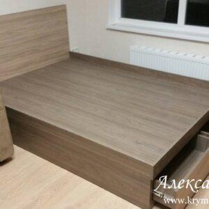Кровать KR 15 на заказ в Симферополе от производителя корпусной мебели в Крыму
