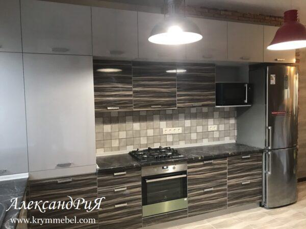 Кухня МДФ пластик PC 182 Кухни на заказ в Симферополе