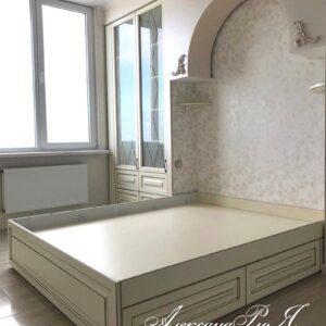 Спальня KR 17 на заказ в Симферополе от производителя корпусной мебели в Крыму Александрия