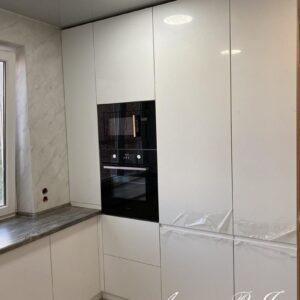 Кухня МДФ пластик в белом цвете