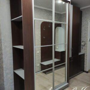 Шкаф-купе с зеркалами и полками