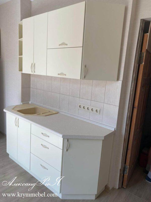 Кухня МДФ крашеный цвет слоновая кость