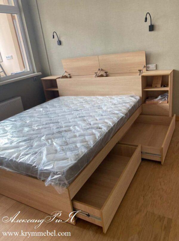 Функциональная кровать с ящиками