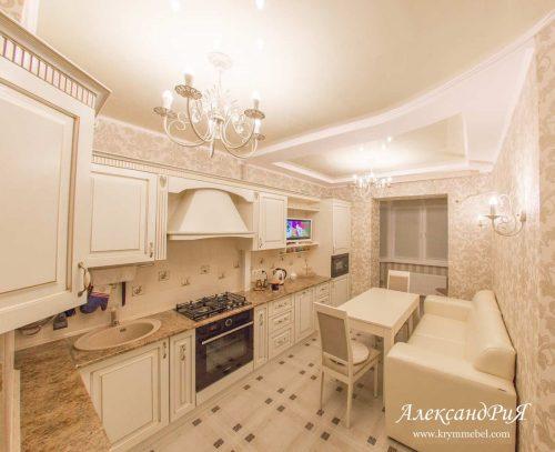 Кухня МДФ патина PA116. Кухни на заказ Симферополь